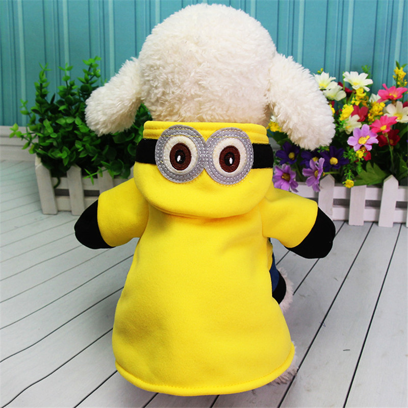 Dog Hoodies Small Dog Cat Cosplay Clothes 2019 Cute Minions Cartoon Hoodie Pet Costume Puppy Clothes For Dogs Cats Winter Autumn Warm Coat Durable In Use Pet Products