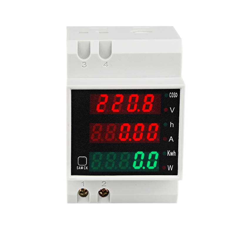 Ac 80-300 V 100a Din-schiene Led Digital Voltmeter Amperemeter Multi-funktion Meter Amp Volt Energie Power Meter Aktive Watt Meter