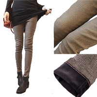 Plus Velvet Thickening Legging Spring Boot Cut Jeans Slim Plaid Sports Trousers Skinny Pants Pencil Pants