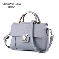Women pu leather shoulder bags female black pink messenger bags solid zipper top handle bags ladies.jpg 250x250