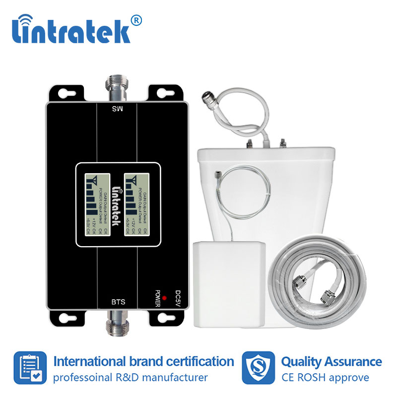 Lintratek 2G 4G <font><b>850</b></font> 1700MHz Cellular Celular Signal <font><b>Repetidor</b></font> CDMA <font><b>850</b></font> AWS 1700 <font><b>MHZ</b></font> Booster GSM LTE B4 Amplifier for Mexico #7+1 image