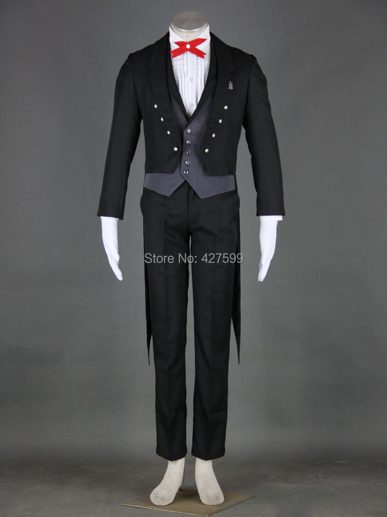 kuroshitsuji black butler sebastian michaelis cosplay costume