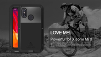 Original Love Mei Powerful Case For xiaomi mi 8 Waterproof Shockproof Aluminum Case Cover + Tempered Glass For xiaomi mi8 cover