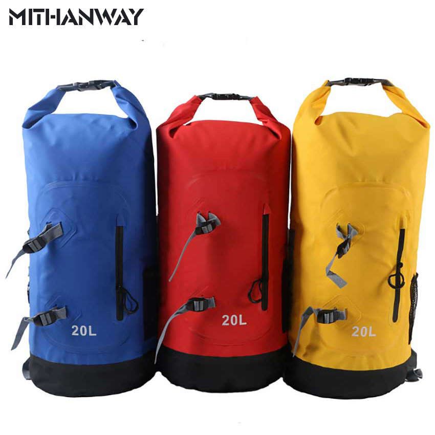 20L High Quality Outdoor Waterproof Dry Bags Floating Fishing Rafting Hiking Swimming Upstream Climbing Backpack Bag