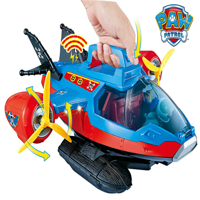 Paw Patrol Toys Aircraft Yacht Pirate Ship Robot Dog Ryder Ferry Bus Control tower Music Action Figures Toys for Children Gifts in Action Toy Figures from Toys Hobbies