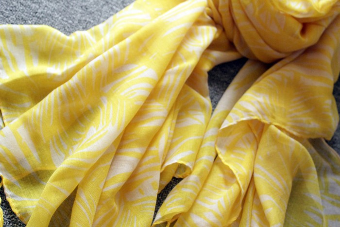 Summer Yellow Tassel Scarf | Ponchos and Capes | Up to 60% Off Now