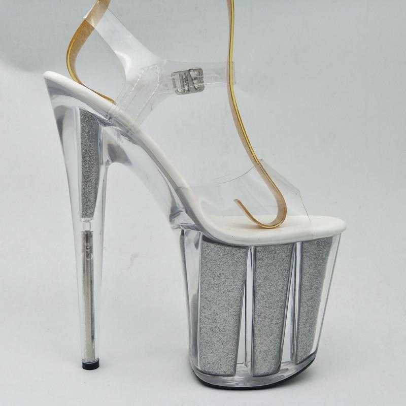 Tacón Cm Toe 2018 Del 20 Noche Ultra Nuevas Mujer Etapa Alto Zapatos Claro Sexy Bombas Plataforma Sandalias La Verano Boda De Laijianjinxia Club Peep q70vH