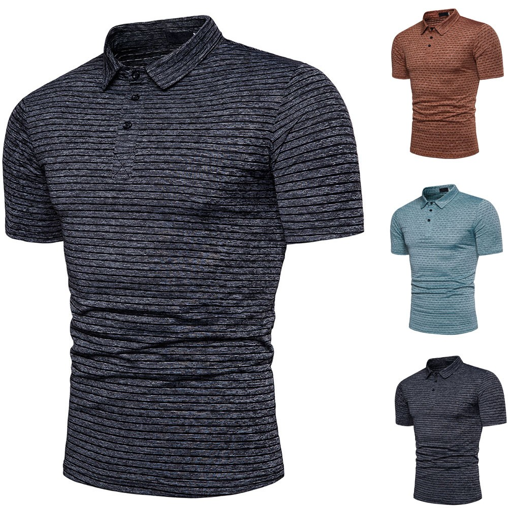 2019 New Arrived 92% Cotton camisa Men   Polo   Shirt 2019 Casual Striped Slim short sleeves ASIAN SIZE M-3XL Free Shipping