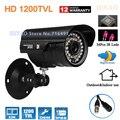 HD 1/2.5'' Sony CMOS 1200tvl 36leds IR Waterproof Outdoor 960H Security CCTV camera surveillance camera Free shipping
