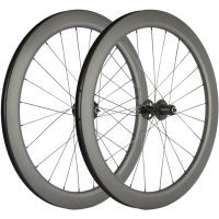 700C Road Disc Brake wheelset SIX BOLTS/CENTER LOCK 55mm Cyclocross Bicycle Wheels Clincher 25mm U shape Carbon Wheelset