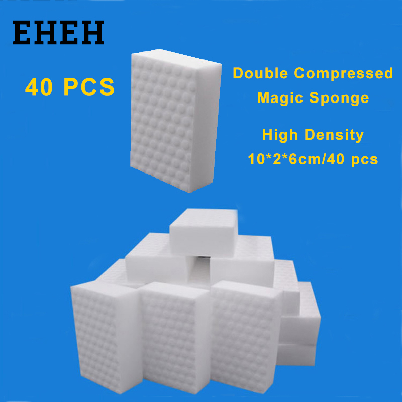EHEH 40 Pcs High Density Double Compressed Cleaning Melamine Sponge Magic Eraser Kitchen Bathroom Sofa Cleaning Quality Supplier