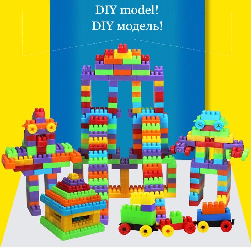 300db baba műanyag téglák építési blokkok Varázslatos építőelemek gyerekeknek Agy játék Oktatási játékok