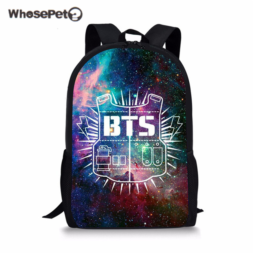 Whosepet Galaxy Bts Printed School Bag Kids Bags Primary Backpack For Girls Boys Back To School Backpack Orthopedic Schoolbag