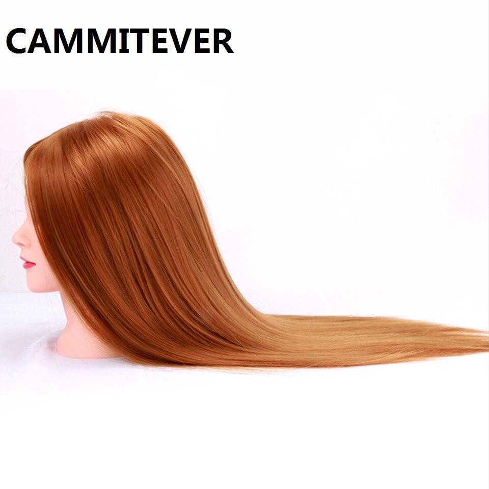 Cammitever химическое парикмахерские Training салон Показать модель поддельные головы женский манекен голова делает на день рождения прическа коса