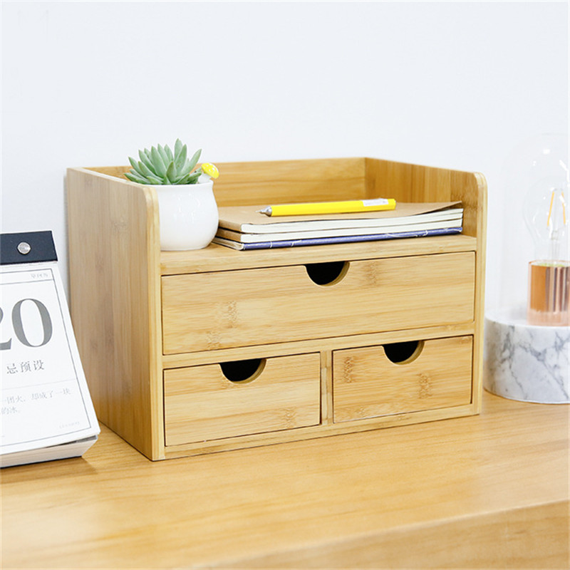 Us 96 42 40 Off Household Decor Storage Box Drawer Wood Cosmetic Organizer Makeup Drawers Jewelry Stationery Storage Admission Boxes In Storage