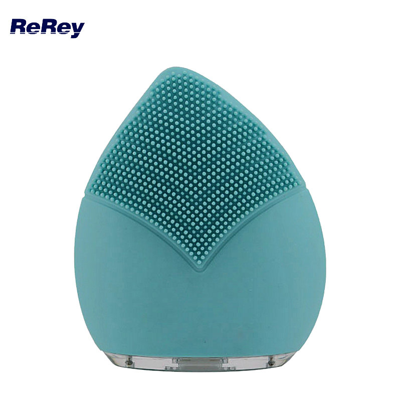 Silicon Face Cleaning Brush Electric Facial Pore Cleaner Waterproof Sonic Vibrate Massage Skin Care Tool Ion Spa Facial Massager цена