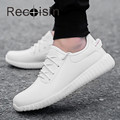 RECOISIN 2017 Spring Autumn Casual Men Shoes High Quality Soft PU Leather Shoes Man Comfortable Trainers Classic Black Shoes 47