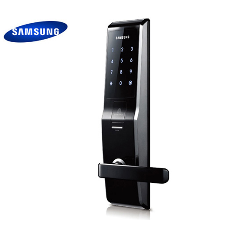English Version Big Mortise Black Color SAMSUNG Fingerprint Digital Door Lock SHS-H705 (fingerprint+password+key) цены