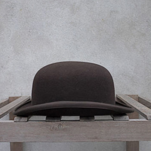 Image 2 - 100% Wool Bowler Hat Women men 100% Crushable Traditional Billycock Groom Hats 4 Size S M L XL