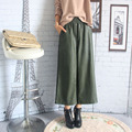 New Arrival Women Casual High Waist PU Leather Pants Wide Leg Pants Elastic Ankle-length Trousers Loose Plus Size