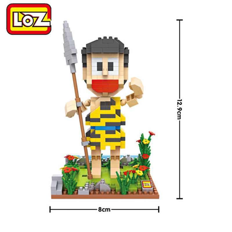 Doraemon Kawaii LOZ Mini Block Ancient Times doraemon Action Figure Toys Collection Building Block 14+ Ages Birthday Gifts 9734
