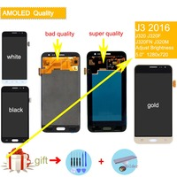 AMOLED LCD for SAMSUNG J3 2016 Display J320 J320F LCD Touch Screen Digitizer assembly for SAMSUNG Galaxy J3 2016 Display J320FN