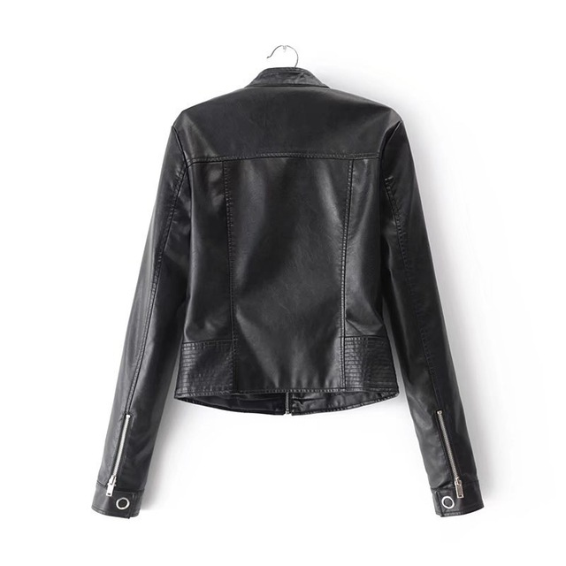 SOFIBERY Spring Autumn New HOT Leather Jacket Fashion Women Slim Long Sleeve Short Motorcycle Biker Jacket Coat FXL32 2