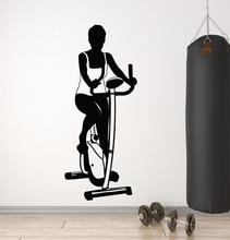 كمال الاجسام اللياقة البدنية المتحمسين الرياضة الفينيل ملصقات جدار نادي اللياقة البدنية امرأة اللياقة البدنية غرفة نوم ديكور المنزل الجدار ملصق مائي 2GY10