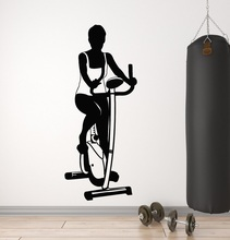Bodybuilding Fitness enthusiast sports vinyl wall stickers Fitness Club Woman Fitness bedroom home decoration wall decal 2GY10