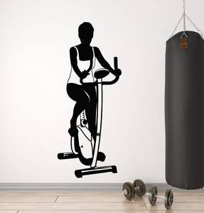 Image 1 - Bodybuilding Fitness enthusiast sports vinyl wall stickers Fitness Club Woman Fitness bedroom home decoration wall decal 2GY10