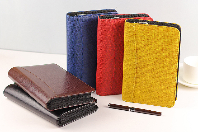 Loose leaf Spinder refillable 18K 25K 32K mini daily portfolio notebook papelaria folder with calculator zip