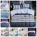 Blue White Stripe Duvet Cover 3/4 pcs Bedding Set Double Big Size Bed Linen Queen King Quilt Comforter Pillow Case Sheet 220x240