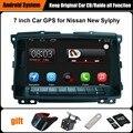 Reprodutor multimídia Carro de Navegação GPS Do Carro atualizado Originais Terno para Nissan Sylphy (após 2010) Apoio WiFi