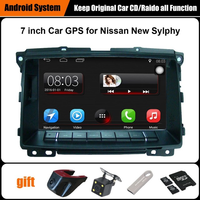 Upgraded Original Car multimedia Player Car GPS Navigation Suit to Nissan Sylphy (2010 after) Support WiFi