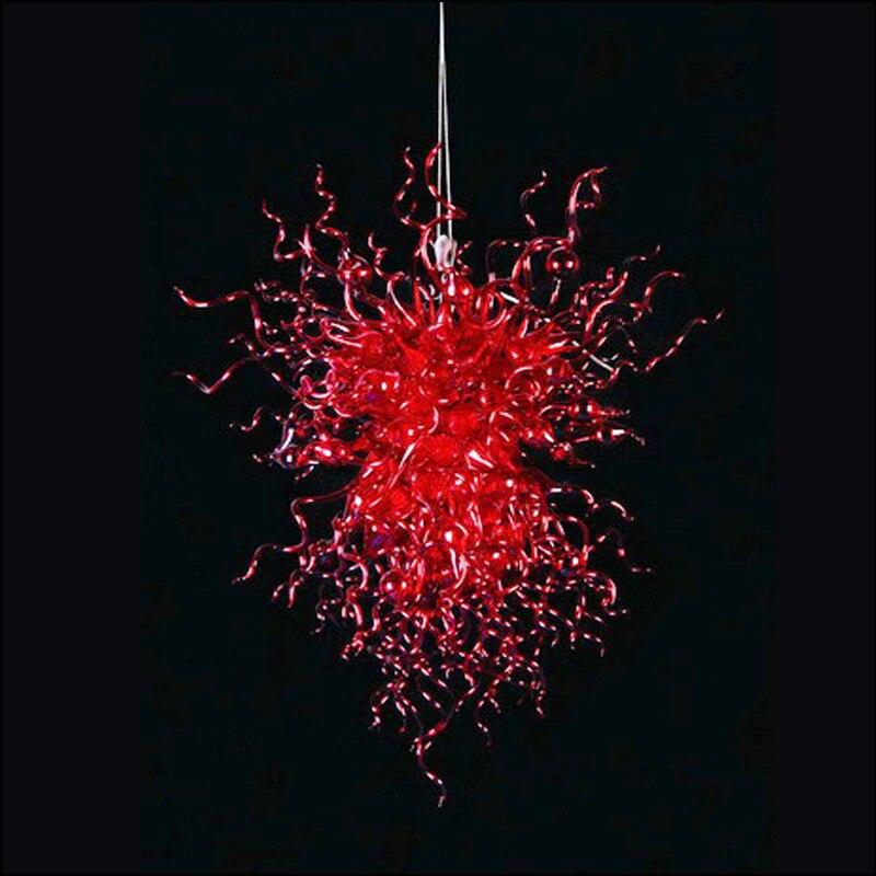 Lustre à chaîne en verre soufflé à la main italien de qualité supérieure Restaurant lampes suspendues modernes décoratives
