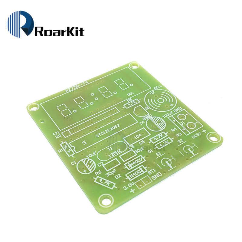 AT89C2051 C51 4 Bit Đồng Hồ Điện Tử Điện Tử Sản Xuất Bộ DIY Bộ Dụng Cụ cho Arduino