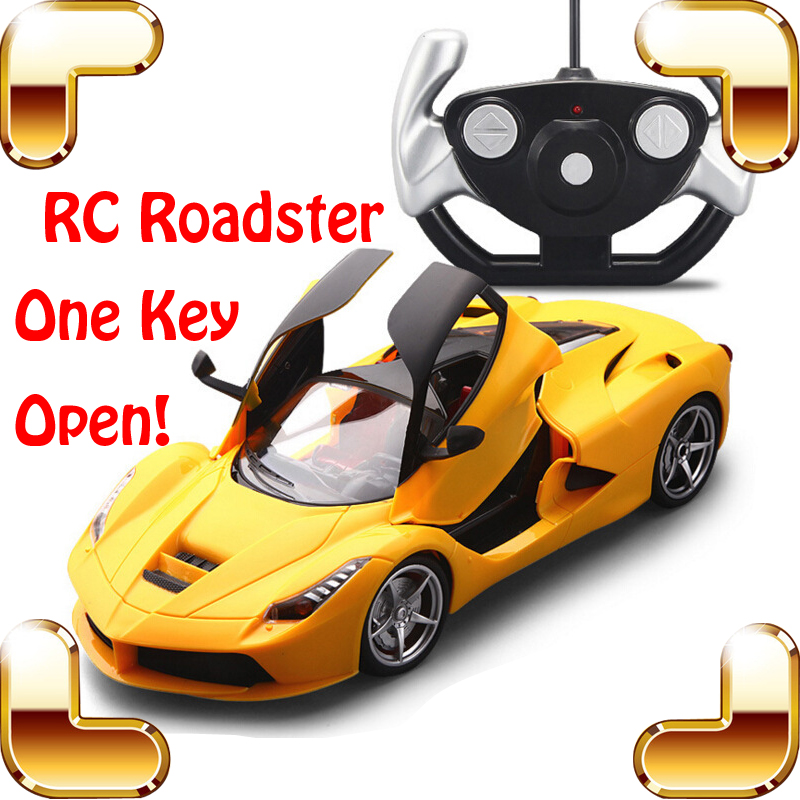 цена на New Year Gift  One Key Open Doors 1/14 RC Remote Control Car Model Roadster Electric Toys Vehicle Racing Shock Resistant Machine