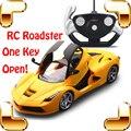 Nuevo Regalo de Año Una Tecla de Puertas Abiertas 1/14 RC Remoto roadster modelo de coche de control eléctrico toys vehículo de carreras a prueba de golpes máquina