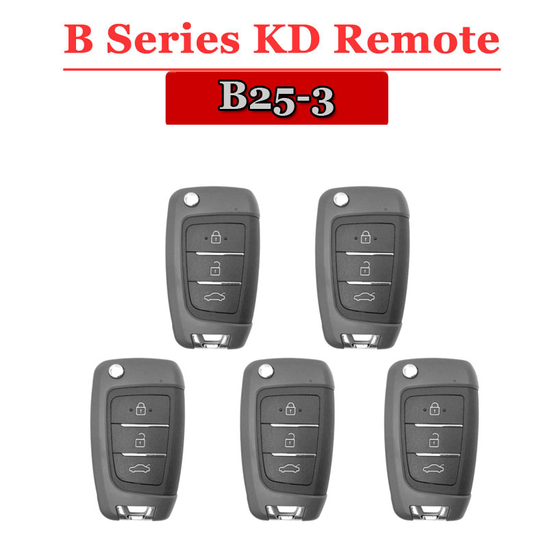 Free shipping 5pcs lot B25 KD900 remote 3 Button B series Remote Key for URG200 KD900