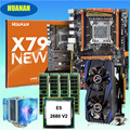 Discount mobo HUANAN ZHI deluxe X79 gaming motherboard with CPU Xeon E5 2680 V2 with cooler RAM 64G(4*16G) Video card GTX960 2G