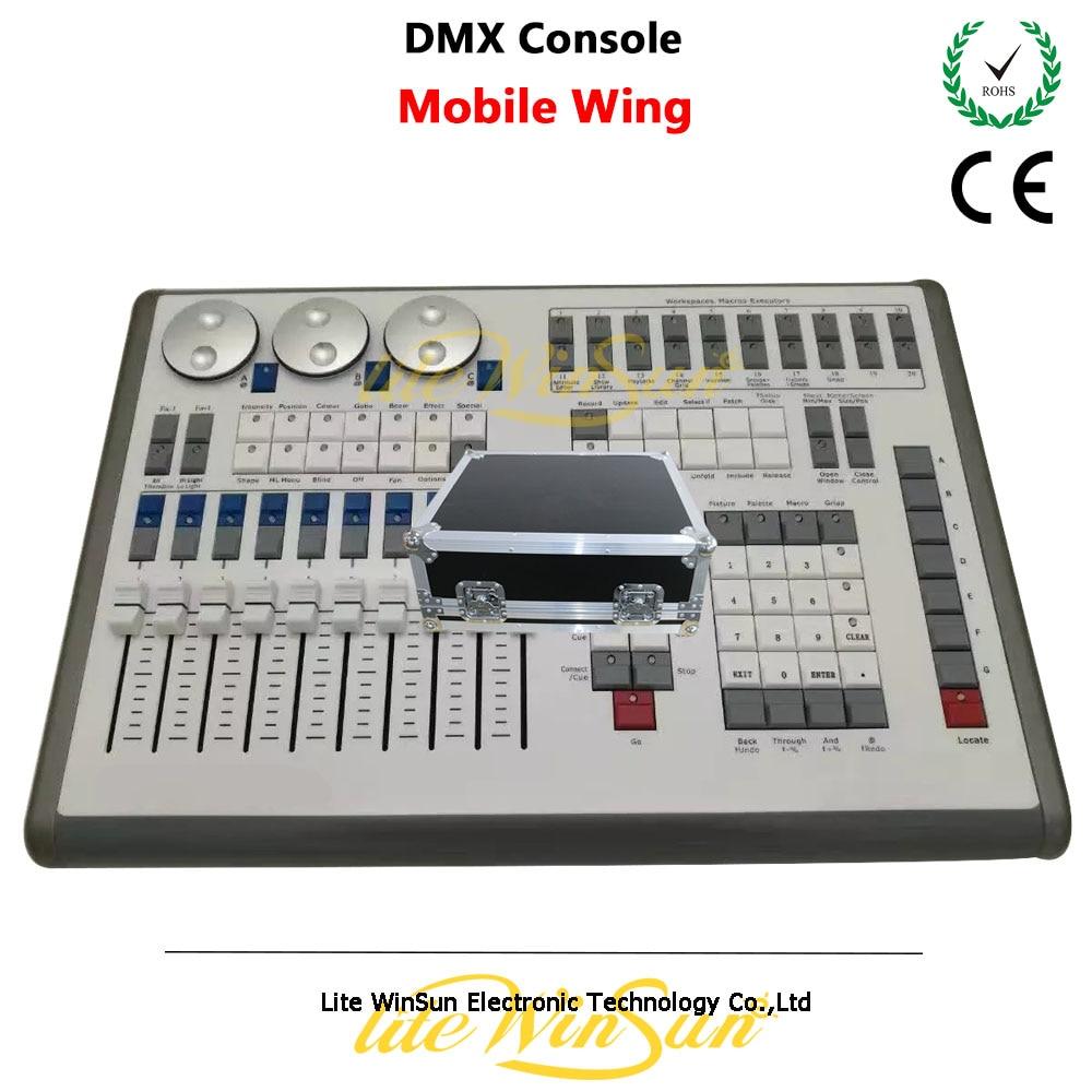 Litewinsune Mobile Wing DMX Console MIDI Timecode USB Powered Titan Net Processors with Free Flight Case