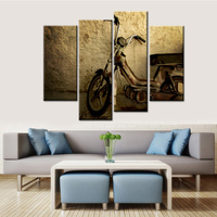 Modular Pictures Classical Retro Custom Print Painting Motorcycle Poster Wall Art Paintings for Home Living Room Bedroom Beauty