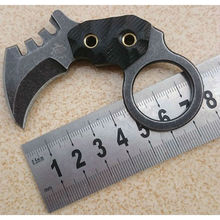 The One Karambit Knife Fixed AUS-8 Blade Knife Pocket Hunting Knife Survival Tactical Knives Camping Outdoor Tools Kydex Sheath