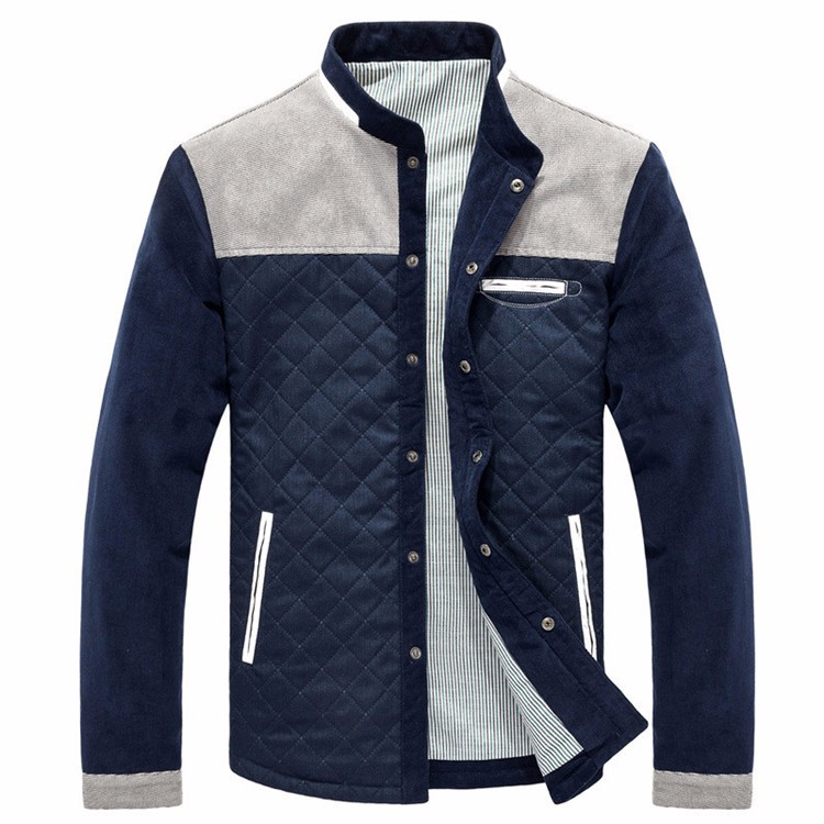 Men\'s Jackets and Coats Ouerwear Casual Patchwork Plus Size Slim Fit 2016 Brand New Cotton Polyester High Quality Men Jacket0