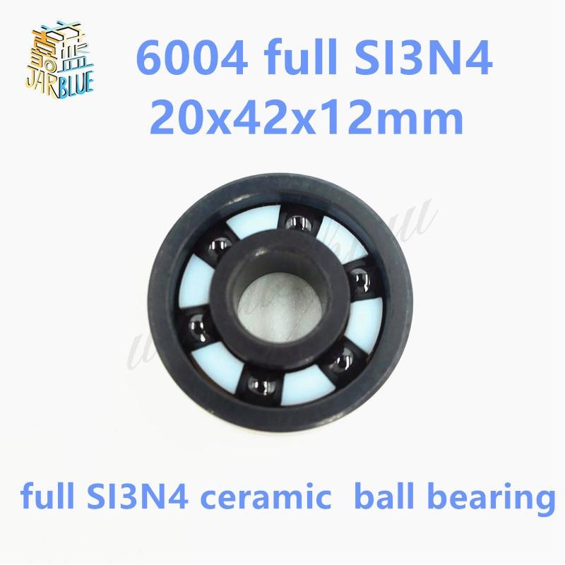 Free shipping 6004 full SI3N4 ceramic deep groove ball bearing 20x42x12mm free shipping 6803 full si3n4 ceramic deep groove ball bearing 17x26x5mm 61803 bearing