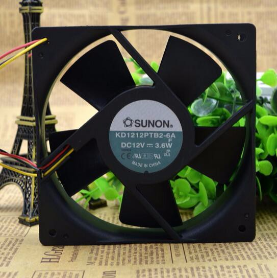 Second hand: SUNON 12cm 12V KD1212PTB2-6A 12V 3.6W 120*120*25MM three wire inverter fan