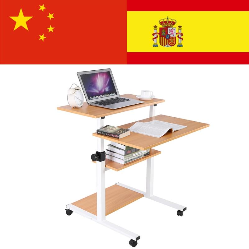 Laptop Desks Furniture Lifting Mobile Computer Desk Bedside Sofa Bed Notebook Desktop Stand Table Learning Desk Folding Laptop Table Adjustable Height