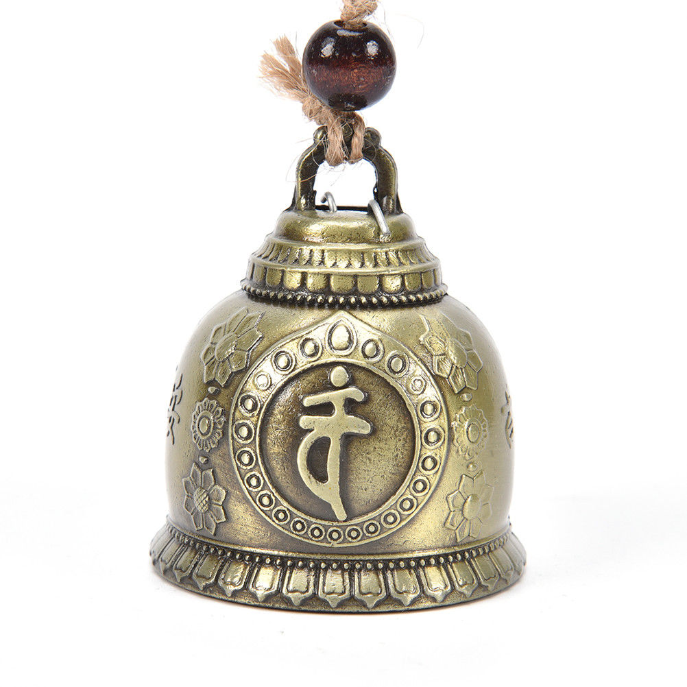 Wind Chime Bell Zinc Alloy Gifts Bronze Living Room Feng Shui Good Luck Fortune Home Garden Wall Art Hangings Decorations