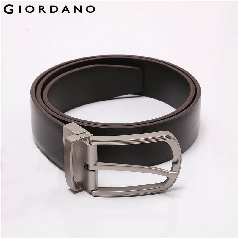 Giordano Men Belt Basic Split Leather Cinto Alloy Buckle Belts High Quality Cintosceinture Homme Apparel Accessories