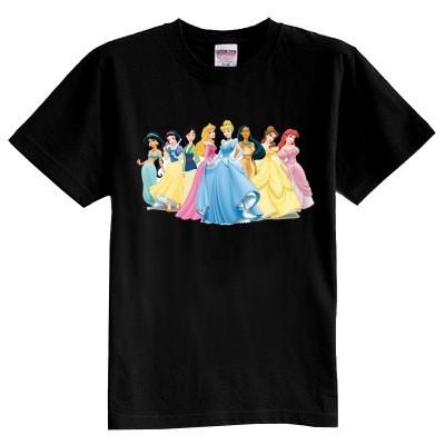 Niños camiseta de verano de manga corta de algodón 100% camiseta de la muchacha princesa de dibujos animados chico camiseta